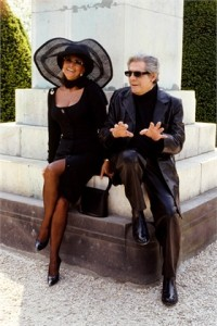 With Sophia Loren