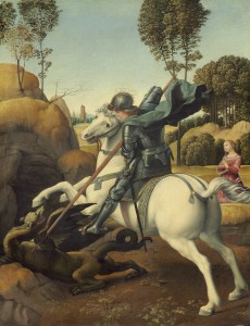 Raphael, Saint George and the Dragon, c. 1506, oil on panel, Andrew W. Mellon Collection