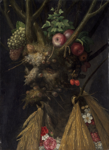Giuseppe Arcimboldo (Italian, 1526 - 1593 ), Four Seasons in One Head, c. 1590, oil on panel, Paul Mellon Fund