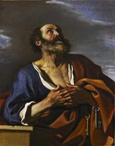 GIOVANNI FRANCESCO BARBIERI detto il GUERCINO Cento 1591 - 1666 Bologna San Pietro pentito