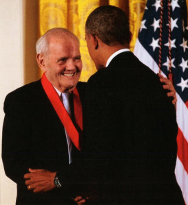President Obama presented the National Humanities Medal to Robert Silvers in 2012.