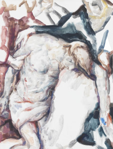 The Lamentation of Christ (After Van Dyck's The Lamentation of Christ, 17th Century), 2014, Oil on board, Copyright Elizabeth Peyton
