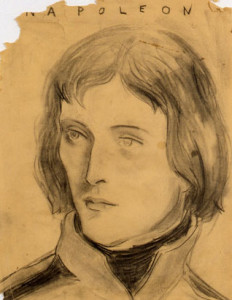 Napoleon, 1991, Charcoal on paper, Copyright Elizabeth Peyton