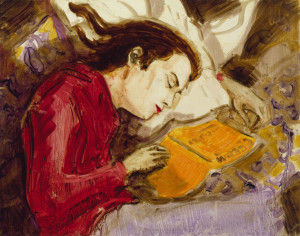 Kurt Sleeping, 1995, Copyright Elizabeth Peyton