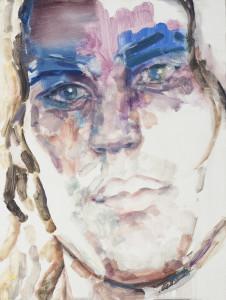 Clear Eyes, Full Hearts Can't Lose (Tim), 2014, Oil on board, Copyright Elizabeth Peyton