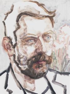 Liam Gillick, 2013, Oil on canvas, Copyright Elizabeth Peyton