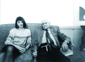 Elisabetta Sgarbi and Alberto Moravia