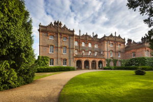 The north front of the house at Hughenden, Buckinghamshire. Hughenden was the home of the Victorian Prime Minister Benjamin Disraeli.