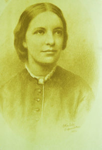 Pastel drawing of Octavia Hill