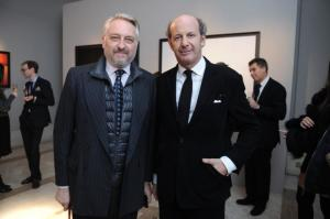 Edmondo with his partner Marco Voena in the gallery.