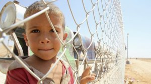 A Syrian refugee boy in Jordan.