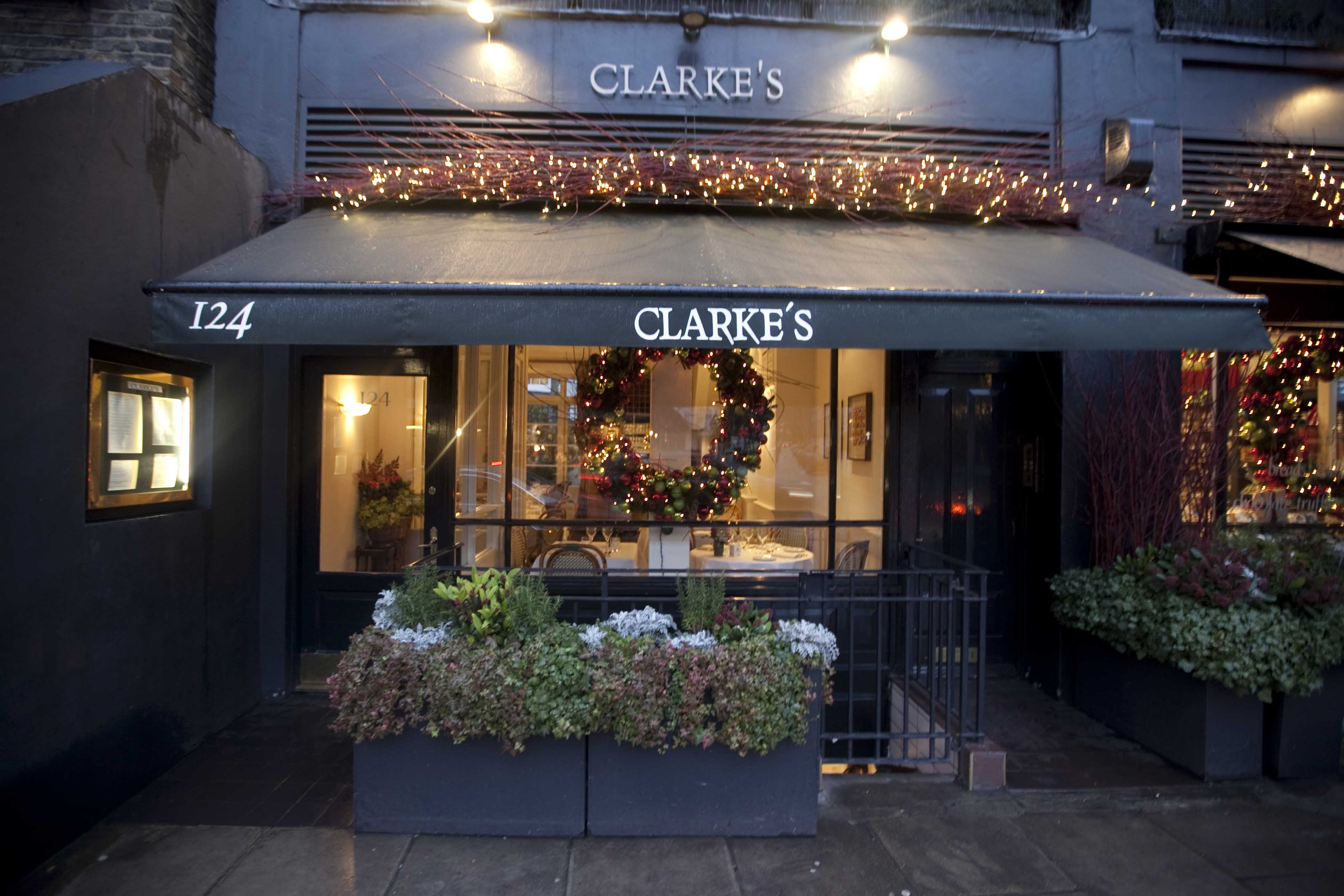 Italian restaurant exterior - Clarkes Restaurant Exterior