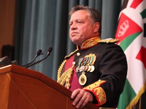 HM King Abdullah of Jordan addresses members of Parliament.