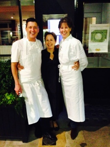 David Lindsay, Alice Waters and Sally Clarke
