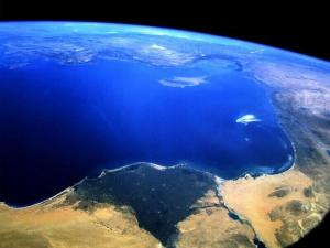The Nile Delta as seen from space. How will global warming affect it?