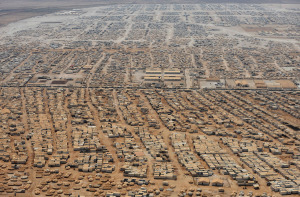The Zaatari refugee camp near the Jordanian city of Mafraq, some 5 miles from the Jordan-Syria border.