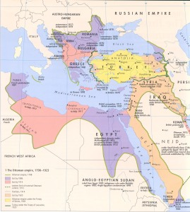 Map of the Ottoman Empire 1798 - 1923