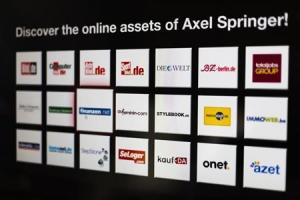 Some online assets of the Axel Springer media group. Credit: Reuters/Thomas Peter
