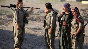 Kurdish women lead the fight against ISIS in Kobane.