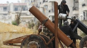 Aleppo is divided between regime forces in the west and rebel-held districts in the east.