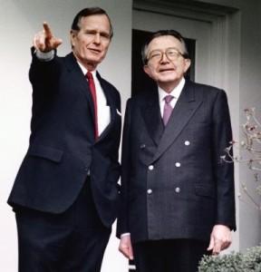 With George Bush Snr.