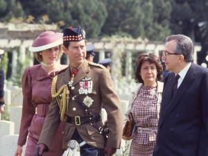 With Prince Charles and Princess Diana at Anzio