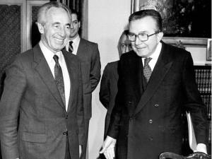 Receiving Shimon Peres