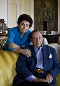 Nicoletta and Gioacchino Lanza Tomasi in the Ballroom.