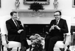 With President Reagan