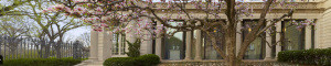 The Frick Museum Portico in Spring