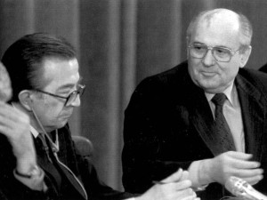 With Gorbachev in Moscow
