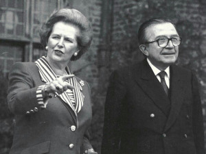With Margaret Thatcher