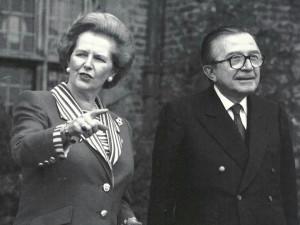 With Margaret Thatcher
