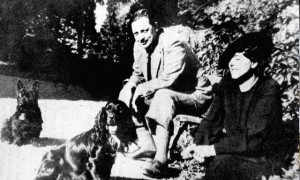 Giuseppe Tomaso di Lampedusa with his wife Alexandra Wolff Stormesee.
