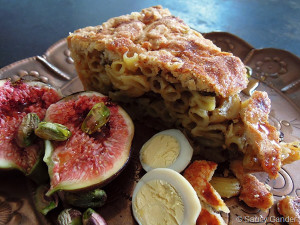 Sicilian macaroni pie from the novel The Leopard by Giuseppe Tomasi di Lampedusa.