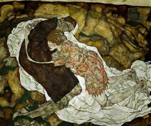 Death and the Maiden, by Egon Schiele, 1915. Österreichische Galerie Belvedere, Vienna, Austria.