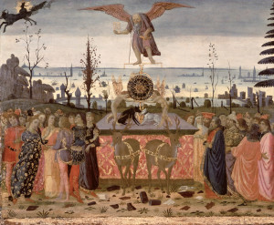 The Triumph of Time (detail), Florentine school, 15thC. Museo Bandini, Fiesole, Italy.