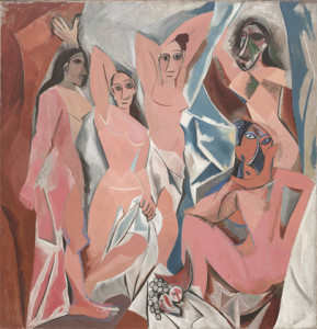 Pablo Picasso, Les Demoiselles d'Avignon, 1907, © 2015 Estate of Pablo Picasso / Artists Rights Society (ARS), New York
