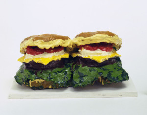 Claes Oldenburg,Two Cheeseburgers, with Everything (Dual Hamburgers), © 2015 Claes Oldenburg