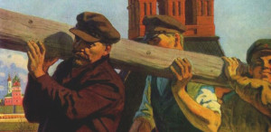Socialist Realism, a Soviet-sanctioned style of art, illustrated the ideals of Communism.