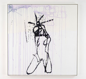 TRACEY EMIN, Live Wire, 2006, Acrylic on canvas,  122.7 x 122.7 cm. Courtesy of the artist & Galleria Lorcan O'Neill Roma
