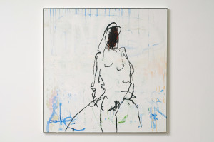 TRACEY EMIN, I'm Still Here, 2009, Acrylic on canvas, 154 x 154 cm. Courtesy of the artist & Galleria Lorcan O'Neill Roma