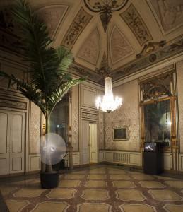 Ciclonic Palm Tree, 2004 palma Archontophoenix, ventilatore, motore / Archontophoenix palm tree, fan, motor 5 x ø 1,5 m © Allora & Calzadilla Courtesy Allora & Calzadilla; Galerie Chantal Crousel, Paris; Ichem Bouzenad, Brusselles allestimento a Palazzo Cusani, Milano / installation view at Palazzo Cusani, Milano photo: Marco De Scalzi