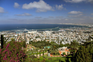 Haifa, on the Mediterranean Coast.
