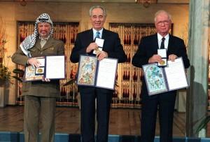 Nobel Arafat Peres Rabin