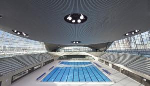 The 2012 London Aquatics Centre. Photographers Hufton + Crow.