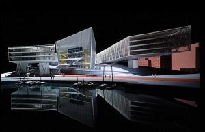 Cardiff Bay Opera House. Model by Zaha Hadid Architects.
