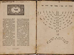 Image: Poem praising the Torah written in the shape of a menorah by Italian philosopher Joseph ben David ibn Yaha (1494–1539). Rare Book and Manuscript Library, Columbia University