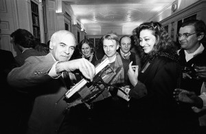 Zaha Hadid and colleagues at the Architectural Association in 1983.