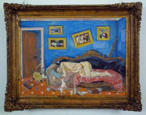 Le Bouc Emmissaire (The Scape Goat), 1863, 38 x 47.5 inches, oil on linen, 1985.